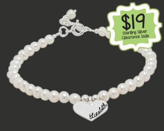 Valentines | Valentines Day | Valentines Gift | CLEARANCE SALE | Personalized Heart Bracelet | Heart Charm Bracelet |  Korena Loves