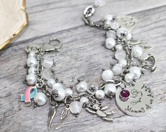 Mommy of an Angel Bracelet | SIDS, Infant Loss PAIL Bracelet | Miscarriage Jewelry | Miscarriage Support Bracelet | SIDS jewelry