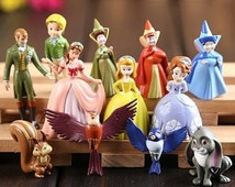 12pcs/set Sofia the First Cake Toppers PVC Figure Toys Princess Sofia  Doll Birthday Gift For Children