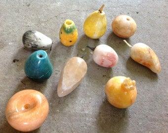 Vintage Alabaster Italian Stone Fruit