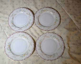 Four Vintage Side Plates by L'Aigle China Made in Japan