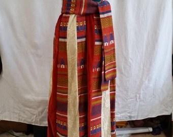 very unique bohemian 1970's skirt