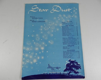 "Vintage 1954 Piano Sheet Music - ""Star Dust""  by Hoagy Carmichael"