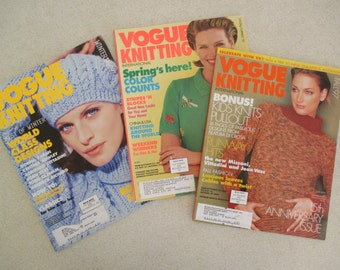 Vogue Knitting  1997 3 issues sold as a set