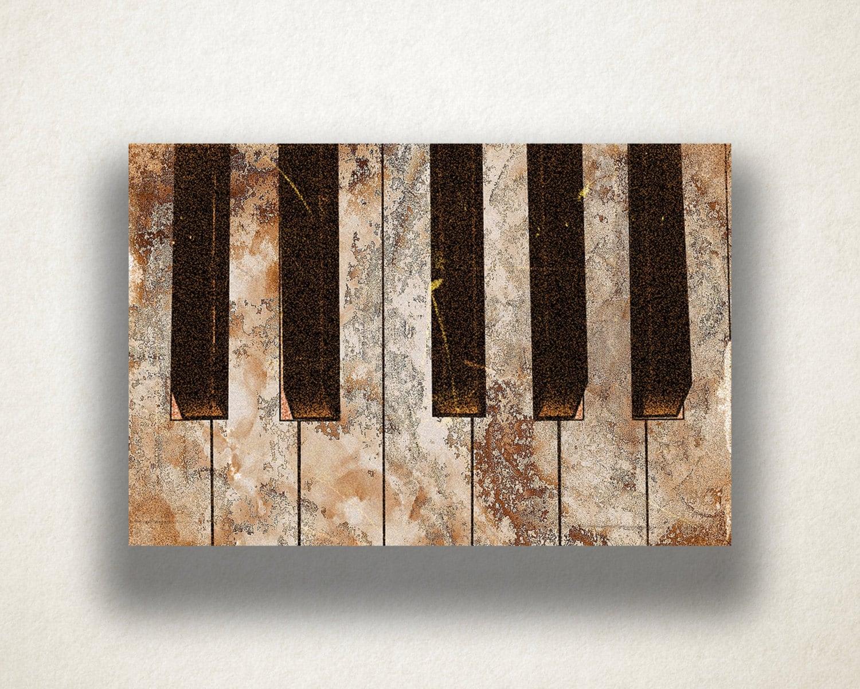 Piano Music Wall Decor : Piano painting canvas art print keys wall music