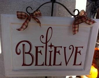 Believe Cabinet Door Lettering ONLY (cabinet door not included)