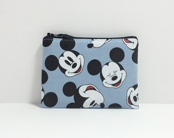 Small square Pouch/Coin purse - Mickey Mouse Head toss