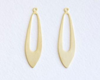 Vermeil Gold Earring Findings - long droplet dangling earring parts