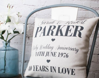 Personalised Anniversary Pillow Cover