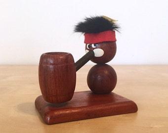 Mid Century Danish Teak Troll Figure