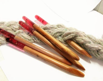 Red ecopoxy resin hair pin hair stick made of juniper wood. Juniper wood shawl pin. Gift for her. Gift for girlfriend