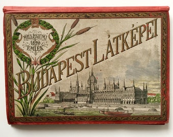 1896 Set of Budapest Postcards