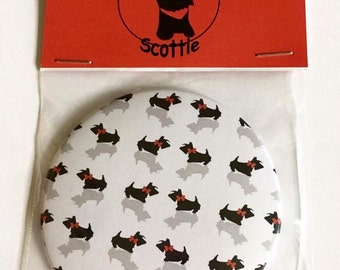 Scottie Dog, 'Red Bows' Pocket Mirror Gift
