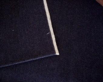 Denim fabric/Cotton denim/Jean fabric/Deep blue denim fabric/Men fabric/Blue cotton fabric/Sewing supply fabric/Sewing project/Jeans fabric