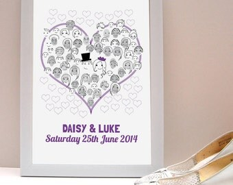 Fingerprint Wedding Guestbook/ Wedding Guest Activity