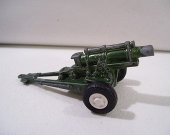 Vintage Tootsietoy Howitzer Military Army Cannon Die cast Toy, USA