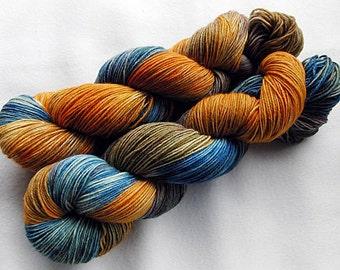 Handpainted Sock Yarn, 75 Wool  superwash, 25 Nylon 100g 3.5 oz.  Nr. 373