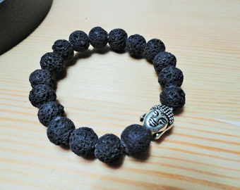 Lava and Buddha Essential Oil Bracelet