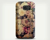 Vintage Floral Samsung Galaxy S7 Case , Galaxy S6 Case , Floral Art Galaxy S5 Case , Phone Cover , Galaxy S7 Edge Case , Samsung Galaxy Case