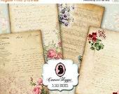 75% OFF SALE OLD Elegance Ephemera Digital Collage Sheet Scrapbooking Vintage Sheet Music Old paper Instant Download