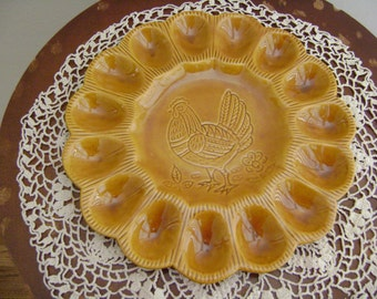 Vintage Deviled Egg Serving Platter