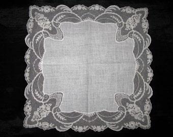 Lace Hankerchief Handkerchiefs Hankies Antique Hanky Vintage