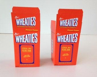 Wheaties Box Miniature Photo Frames: Two Little Wheaties Box
