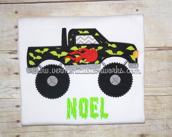 Monster truck fabric etsy for Monster themed fabric