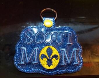 Boy scout mom keychain