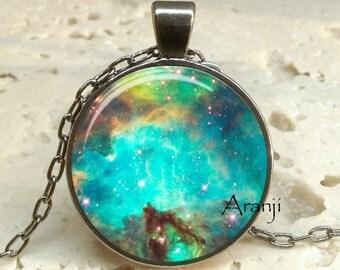 Large Magellanic Cloud galaxy art pendant, nebula necklace, galaxy necklace, space jewelry,  galaxy jewelry, galaxy pendant, Pendant#SP187GM