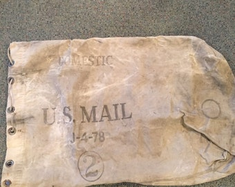 vintage us mail bag 1978