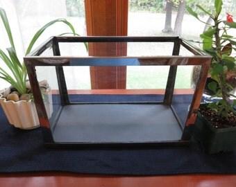 Vintage Chrome Framed/Glass Aquarium/Fish Tank/Terrarium/Display Box
