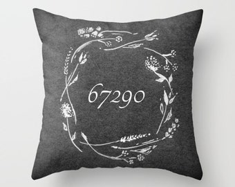 Custom Number Throw Pillow, address pillow, personalized pillow, custom throw pillow, number pillow, custom number, numbers pillow