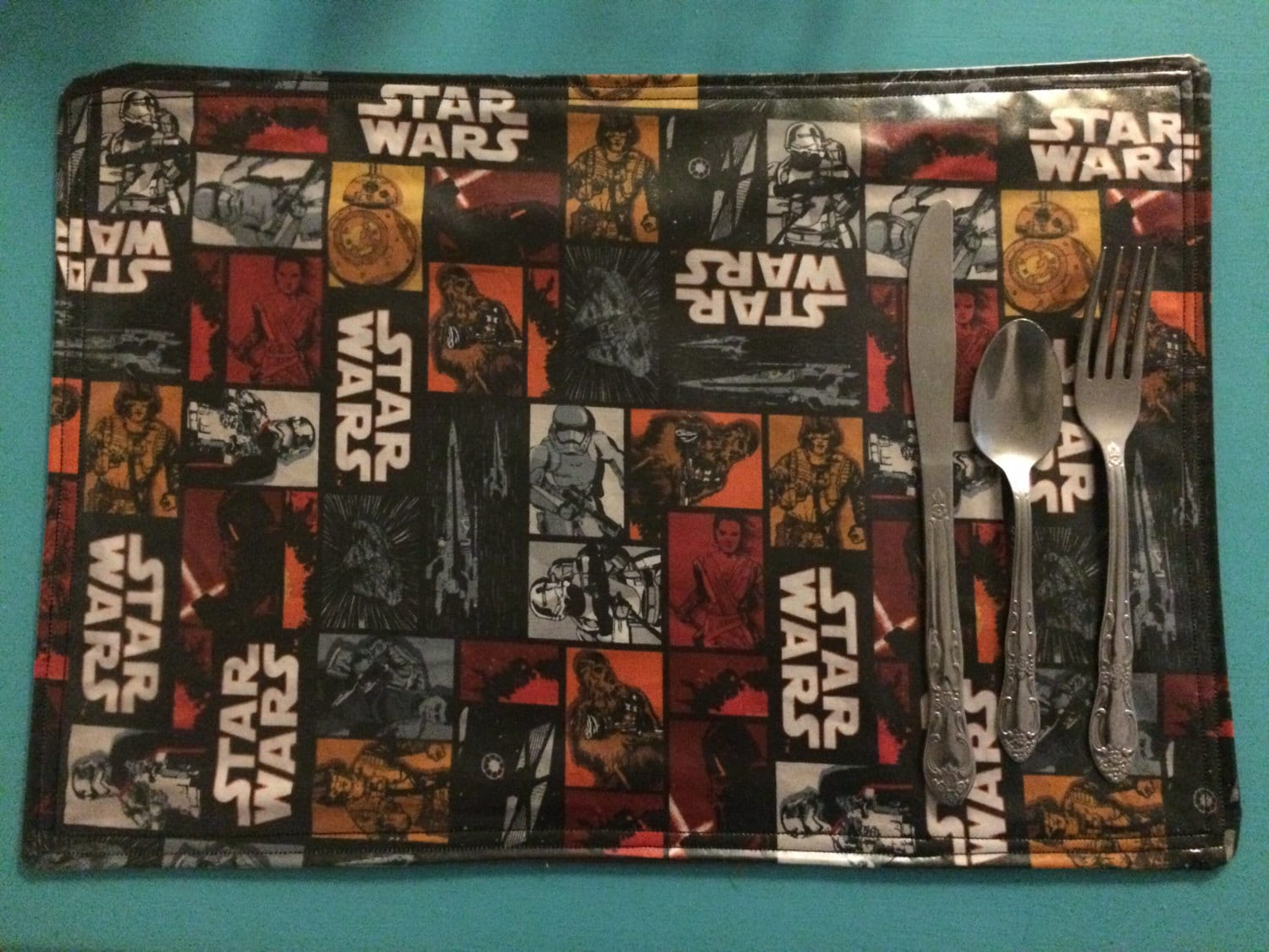 Star Wars Placemats Wipable Vinyl Red