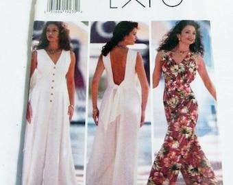 """SALE 1990s Palazzo Pants Jumpsuit Wide leg Sleeveless sewing pattern Size 6 8 10 Bust 30.5 31.5 32.5"""" Butterick 3434 UNCUT FF"""