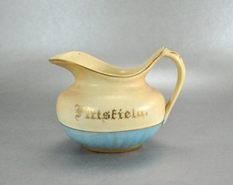 Hampshire Pottery J S Taft Antique Blue Cream Creamer Pitcher Pittsfield
