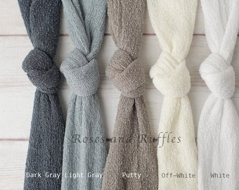 Newborn Stretch Wraps - Multiple Colors - Ready to Ship Stretchy Newborn Knit Wraps - Swaddle Wraps - Newborn Prop Wraps - Stretch Wraps