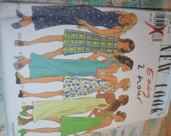 New Look 6754 Misses Dress Sewing Pattern - UNCUT- Sizes 8 - 18