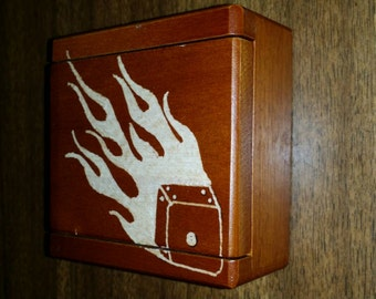 Dice Case Holder With Wooden Dice