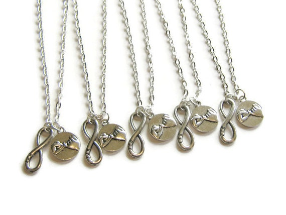 5 best friends necklaces bff infinity and promise