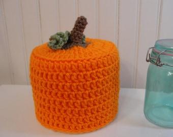 Pumpkin Spare Toilet Tissue Cover~Fall Home Decor Toilet Tissue Cover~Fall Bathroom Decor~Pumpkin Toilet Tissue Cover~Fall Tissue Roll Cover