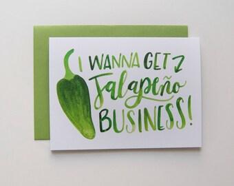 Jalapeno Greeting Card