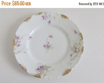 SALE Purple Passion Porcelaine Theo Haviland Limoges Plates French Country Decor Limoges Collector Plate Bittersweet Nightshade Purple Flowe