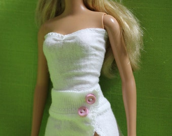 White Set for Barbie - top and skirt