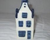 KLM Rynbende Distilleries Holland Blue Delft House #16, Vintage 1960s, Unsealed