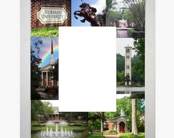 Furman University Picture Frame Photo Mat Personalized Unique Gift School Graduation