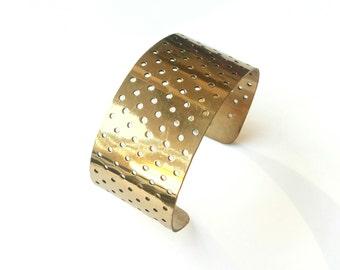 Gold Dots cuff bracelet