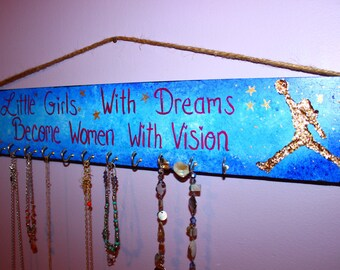 Girls Room Decor, Custom Jewelry Rack,Personalized Necklace Holder, Gift for Teen Girls