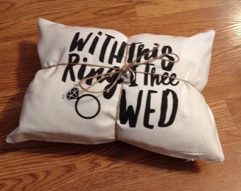 With this ring i thee wed. Ring Pillow