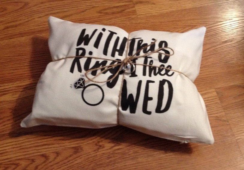 with this ring i thee wed ring pillow - With This Ring I Thee Wed